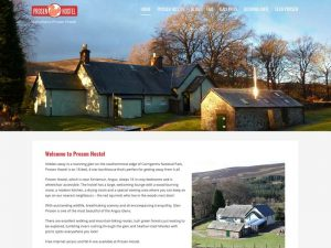 Prosen Hostel web site