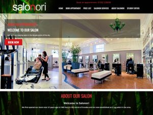 Salonori Hair Salon web site